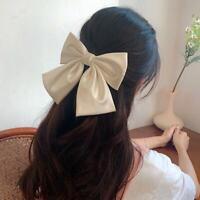 Big Bow Hair Accessories Women Large Bow Hairgrips Hair Clip Ribbon Barrette