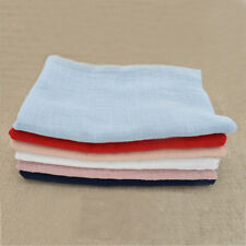 50×130cm Solid Cotton Linen Fabric Multi-color Reversible Quilting Swatches