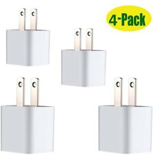 4 units-Wall Charger USB 10-Pack Home Port Plug Cube For Apple iPhone 6,7,8,X