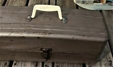 Antique Union Steel Corp. Fishing Tackle/Tool Box Two Trays Leroy, Ny