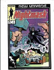 Lot of 8 Nightmask Marvel Comic Books #1 2 3 5 7 8 11 12 BH51