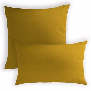 aa199a Mustard Yellow Cotton Canvas Cushion Cover/Pillow Case*Custom Size*