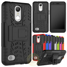 For LG K4 2017, K8 2018,K10 2018 Case Rugged Armor Defender Cover with Kickstand