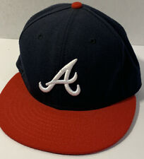 59FIFTY Atlanta Braves Hat Official On Field Cap MLB Cool Base New Era Sz 7 55.8