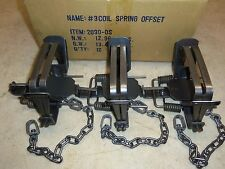 3 Bridger # 3 Offset Coil Spring Traps Beaver Otter Coyote Bobcat Trapping