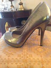 Michael Antonio Gold Stiletto Pumps - Size 7M