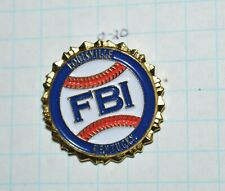 "FBI LOUISVILLE KENTUCKY DIVISION HOT BASEBALL SLUGGER POLICE 1"" LAPEL PIN"