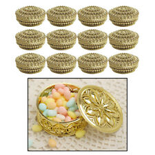 Small Plastic Hollow Gold Candy Box Wedding Favor Gifts Event Decoration