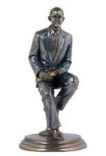 "8"" Statue Mr President Barack Obama African American Figure Sculpture Sitting"