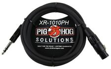 """10ft 1/4"""" TRS Male to XLR 3-Pin Female Shielded Balanced PigHog Audio Cable"""