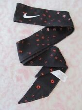 Nike Printed Skinny Dri-Fit Head Tie Black/Crimson Pulse/White - New