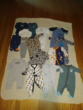 Infant / Baby mixed lot of clothes Boys 0-3 Months 15 items