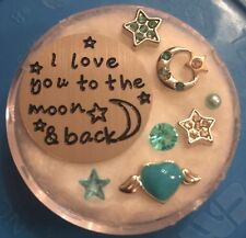 Floating Charm Plate~*~Love You To The Moon And Back~*~for Living Memory Lockets