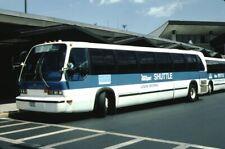Massport Shuttle Gm Rts Bus Kodachrome original Kodak Slide