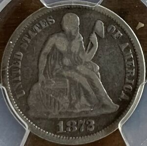 1872 Seated Liberty Dime Doubled Die Rev. Top 100#56 PCGS F15 CAC, F-105, CHOICE