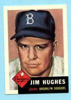 1953 Topps Archives #216 Jim Hughes - Brooklyn Dodgers