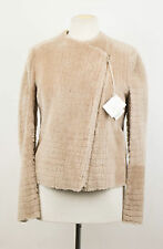 NWT BRUNELLO CUCINELLI Brown Shearling Leather Jacket Coat Size 6/42 $5070
