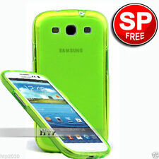 Green Soft Matte Slim TPU Case Samsung Galaxy S3 4G i9305+Screen Protector AU