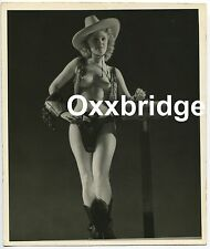 Texas Burlesque Stripper 1930 Pre Code Photo Gun Smoking Showgirl Wild Western