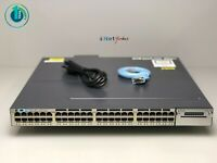 Cisco WS-C3750X-48PF-S • 48 Port PoE 3750X Gigabit Switch ■SAMEDAYFASTSHIPPING■