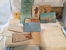 Antique Vintage Postcards Receipts Old Letters Paper Epeherma 1800's