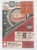 1967 CINCINNATI REDS vs PITTSBURGH PIRATES Program +Ticket Stubs CLEMENTE ROSE