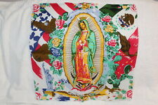 BANDANA GUADALUPE VIRGIN MARY AMERICAN MEXICAN FLAG EAGLE ROSE ( SET OF 3 )