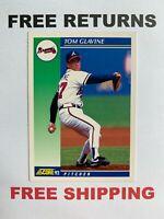 1992 Score Base Card #450 Tom Glavine Atlanta Braves MLB HOF