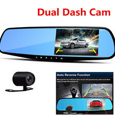 "4.3"" Dual Cam Car Front Rear DVR Lens HD1080P Car DVR Dash Camera Video Recorder"