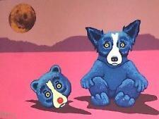 "Blue Dog George Rodrigue   ""Blue Dog in a Bear Suit""   Silkscreen   MAKE  OFFER"