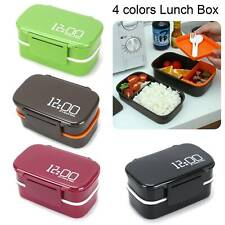 Lunch Box Bento Stacking Compartments Food Container Leakproof with Fork Spoon