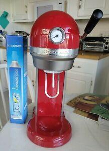 RED KitchenAid  Sparkling Beverage Maker Soda Stream Countertop Soda Maker 60 DA
