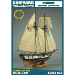 Vessel Shipyard ZL004 Berbice Scale 1:72 Laser Cut Kit