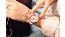 Polygonal women leather watch luxury fashion cute gift for the girlfriend or mom