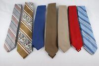Lot of 7 Ties Various Designs Mervyen's Men Collection Pour Les Hommes Solids