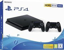 "Sony Playstation Slim Konsole PS4 500GB Schwarz + 2 Controller *NEU HÃ""NDLER"