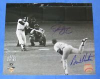 REGGIE JACKSON ~ 3 WS HR GAME ~ 8x10 PHOTO Signed by BURT HOOTEN & STEVE YEAGER