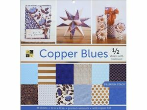 DieCuts with a View DIE06534 Diecuts Paper Stack 12x12 Prints Copper Blues Paper