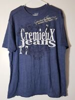 Men's Cremieux Jeans Premium Denim Graphic Cotton Blend T-shirt XL Blue