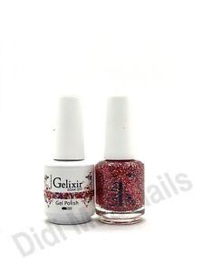 Gelixir Soak Off Gel Polish LED/UV .5oz Pick Your Color Matching Duos #001-144