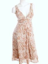 JONATHAN MARTIN Peach and Grey Paisley Floral Dress Size 10