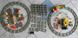 MEGA Lego DUPLO EISENBAHN ZUG SET Lok, Waggon, Baustelle über 6 Meter BAHNLÄNGE