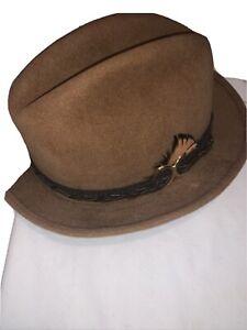 Mallory Size 6 7/8 Vintage Brown Man's Hat