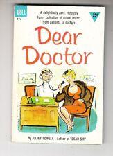 Dear Doctor by Juliet Lowell, a Near Mint PB, Dell 976,1st Print, April, 1958