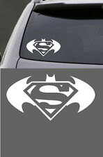 SUPERMAN BATMAN VINYL  WINDOW LAPTOP DECAL STICKER