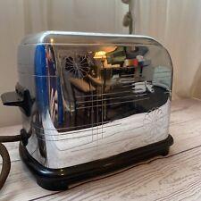 Vintage 1938 Toastmaster 1B6 Daisy Chrome MCM Pop Up Electric 2 Slice Toaster