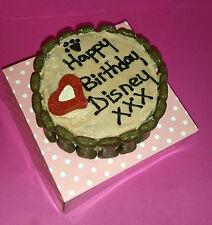 DOG BIRTHDAY CAKE PINK HEART GIRL BANANA OAT treat puppy food party Christmas
