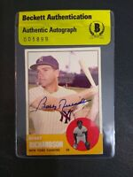 Bobby Richardson 1963 Topps #420 Signed Autographed Yankees Beckett BAS