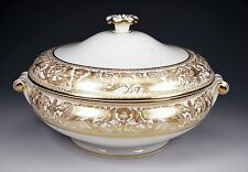 Wedgwood FLORENTINE ROUND COVERED VEGETABLE CASSEROLE GOLD W4219