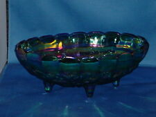 DECORATIVE GLASS BOWL Multi Color with fruit and leaves design on bottom